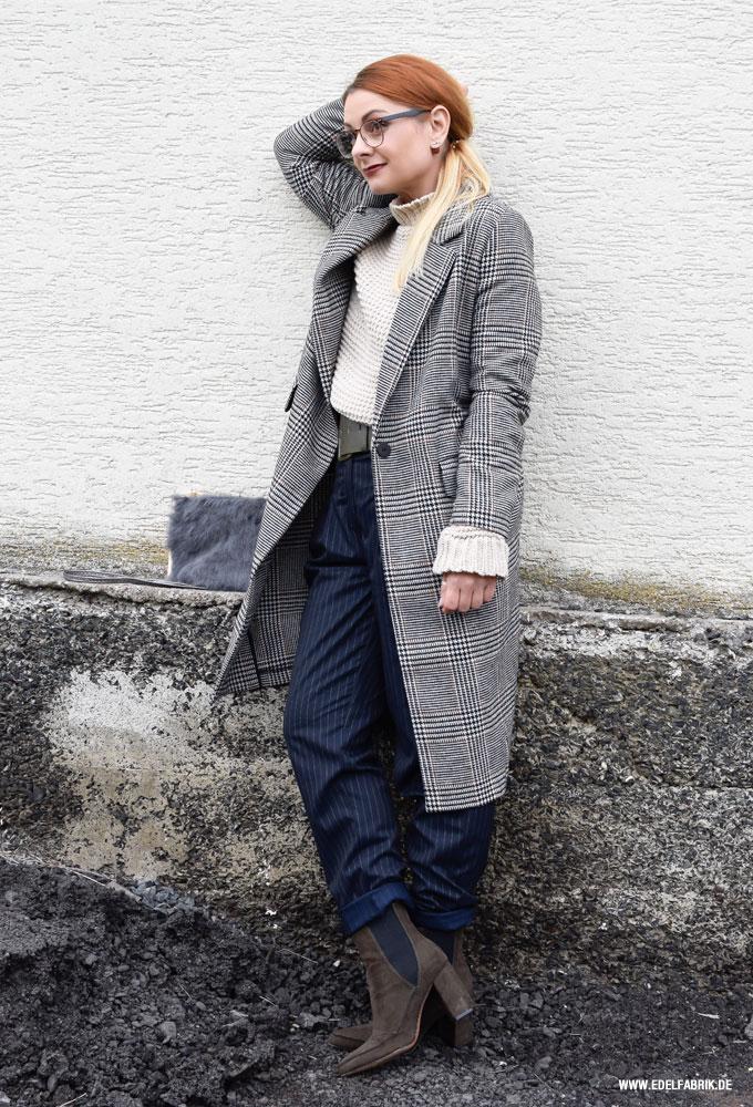 so stylst Du den Karo Mantel von H&M im Alltag