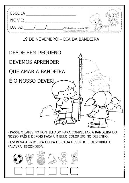1º ano, Atividades 1º ano, Educação Infantil, Dia da Bandeira educação Infantil, Atividades sobre o Dia da Bandeira, Dia da Bandeira,