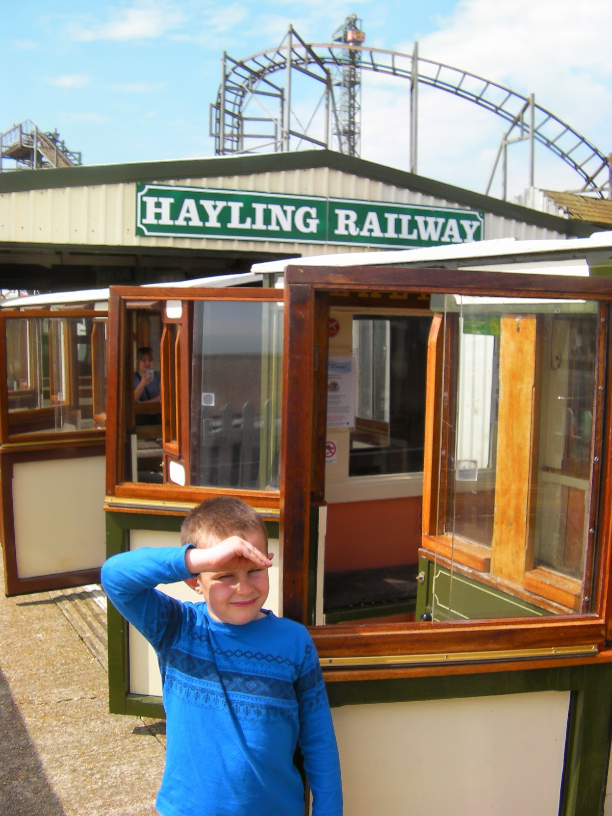east hayling light railway staion by funlands amusement park