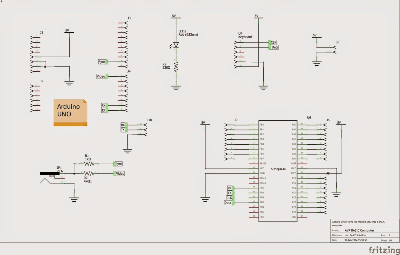 Arduino Robotic Circuit Arduino Basic Shield