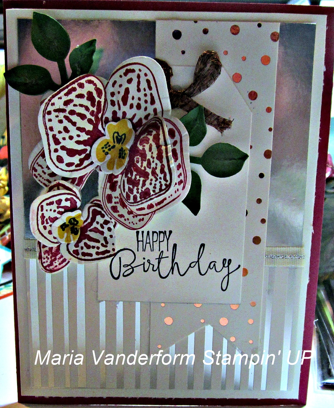 crafty maria s stamping world orchid birthday paper craft crew