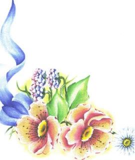 pintura em tecido flores jogo de cozinha
