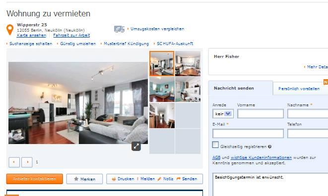 wohnungsbetrugblogspotcom hauptmonoutlookcom alias Haupt Monice alias Herr Metzger Wohnung