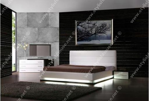 modern bedroom furniture set with under bed Lights