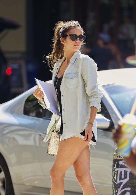 Nina Dobrev in Shorts
