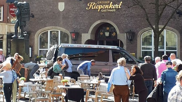 Two killed in Germany as van ploughs into crowd in Muenster