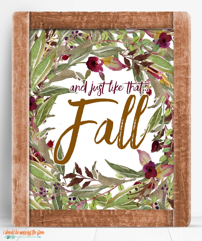 Falling for Fall Printable