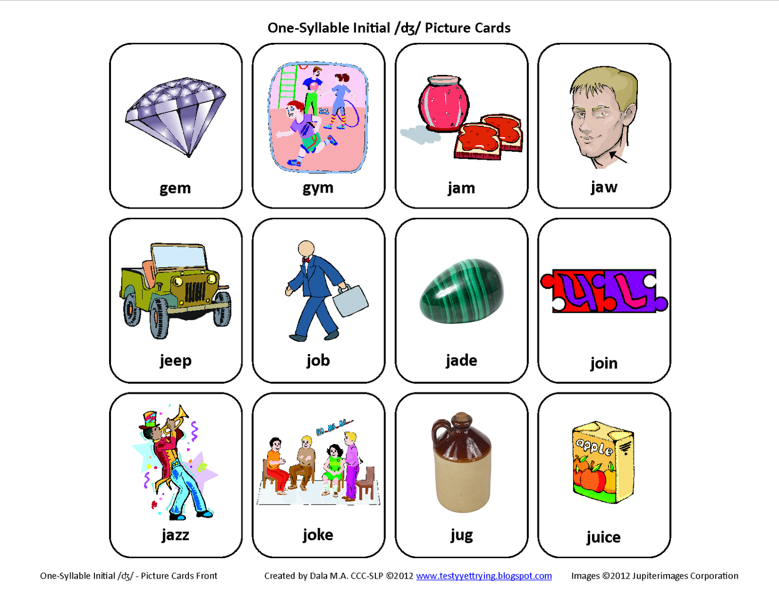 Initial J Free Speech Therapy_4 on Beginning Letter Sounds Preschool Worksheets