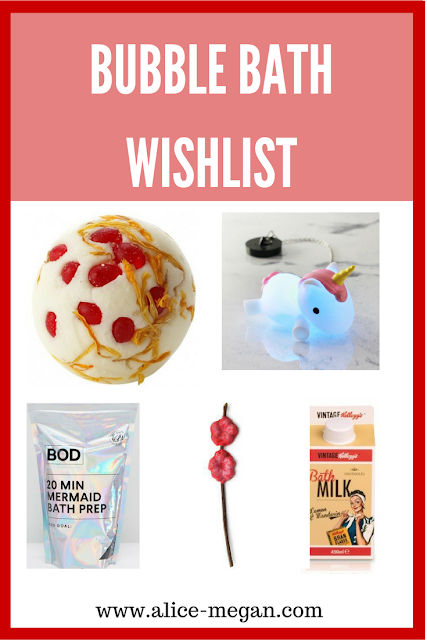 5 Bubble Bath items
