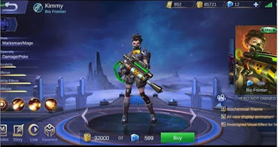 Kimmy Starlight Skin Maret 2019 - Bio Frontier - Mobile Legends