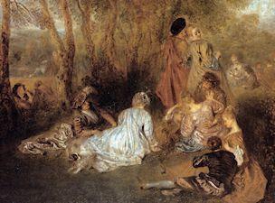 La fiesta del amor, por Watteau