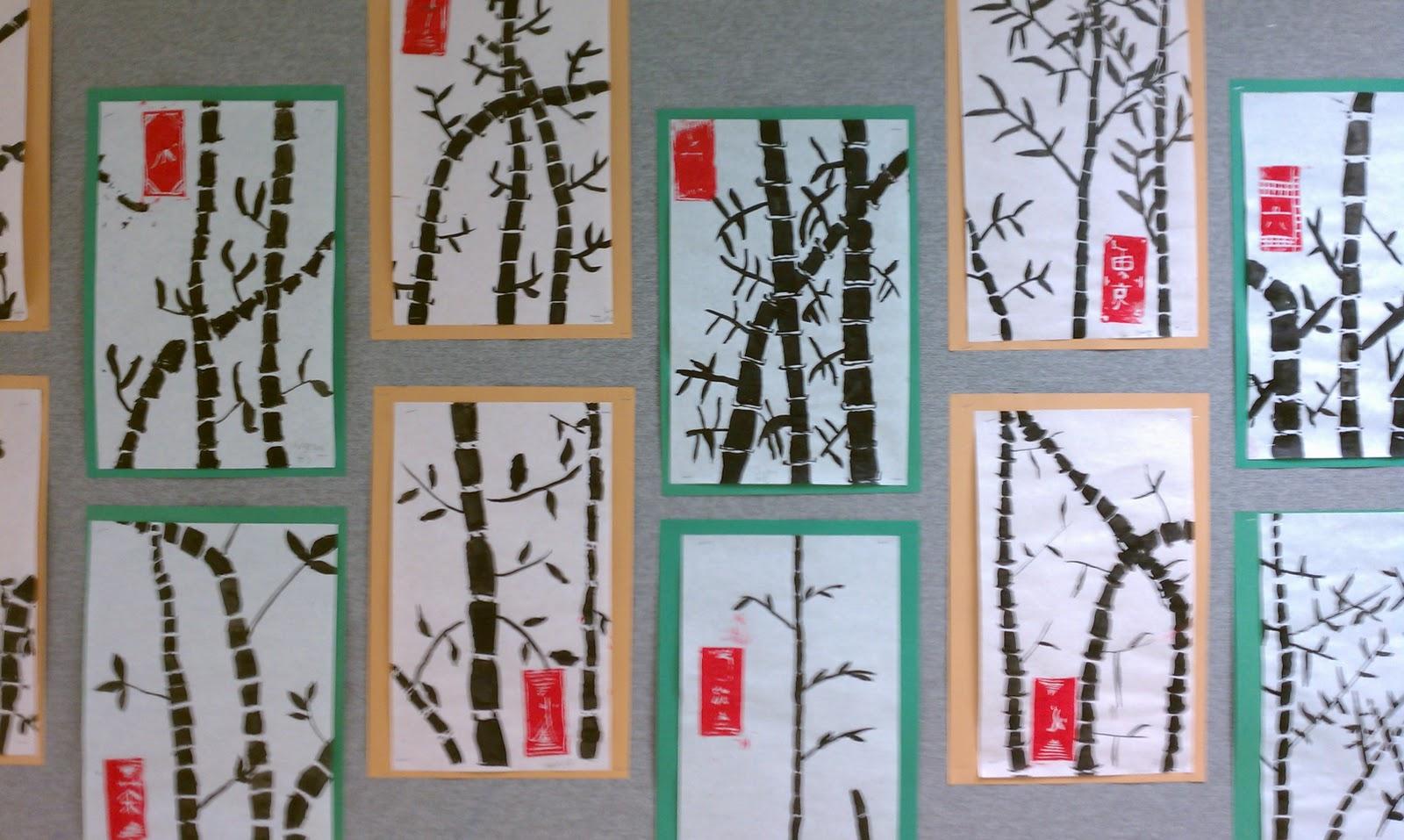 Art Rocks Grade 3 Bamboo Paintings