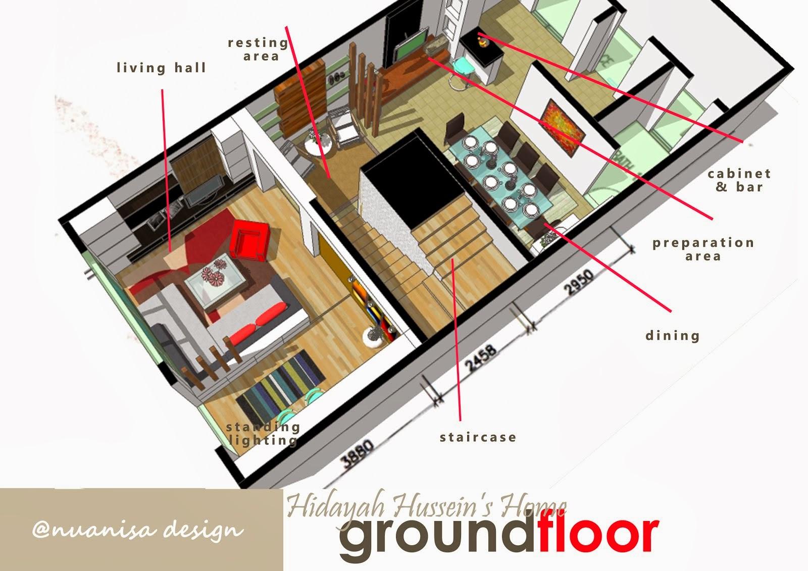 Rekabentuk Hiasan Dalaman Rumah Teres 3 Tingkat