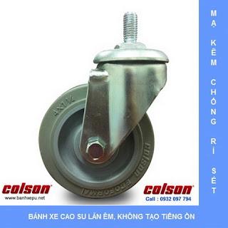 Bánh xe lắp trục ren bánh xe đẩy chịu tải trọng (82~122kg), bánh xe cao su