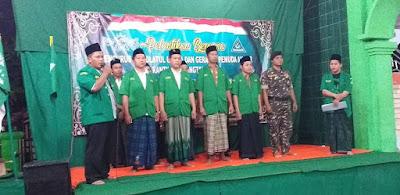 Pelantikan Pengurus Pimpinan Ranting GP Ansor Desa Karangtalok MH 2019-2021