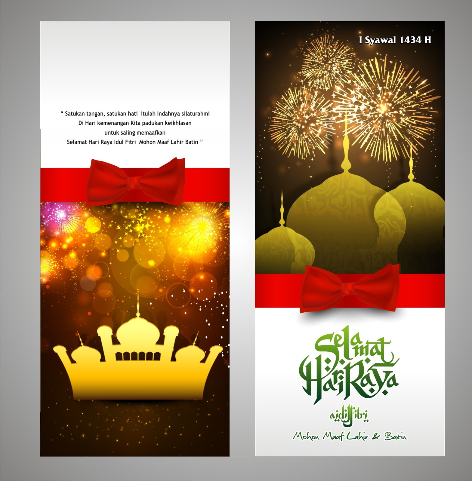 Kartu Lebaran Selamat Hari Raya Idul Fitri with Red Ribbon ...