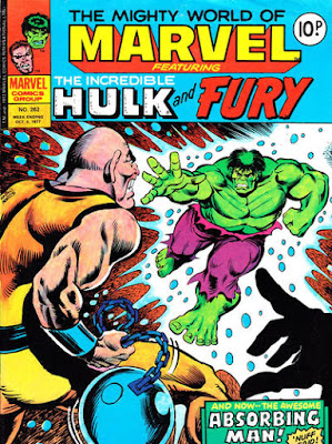 Mighty World of Marvel #262, Absorbing Man vs Hulk