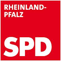 Quadratisch weiße Schrift auf rotem Hintergrund