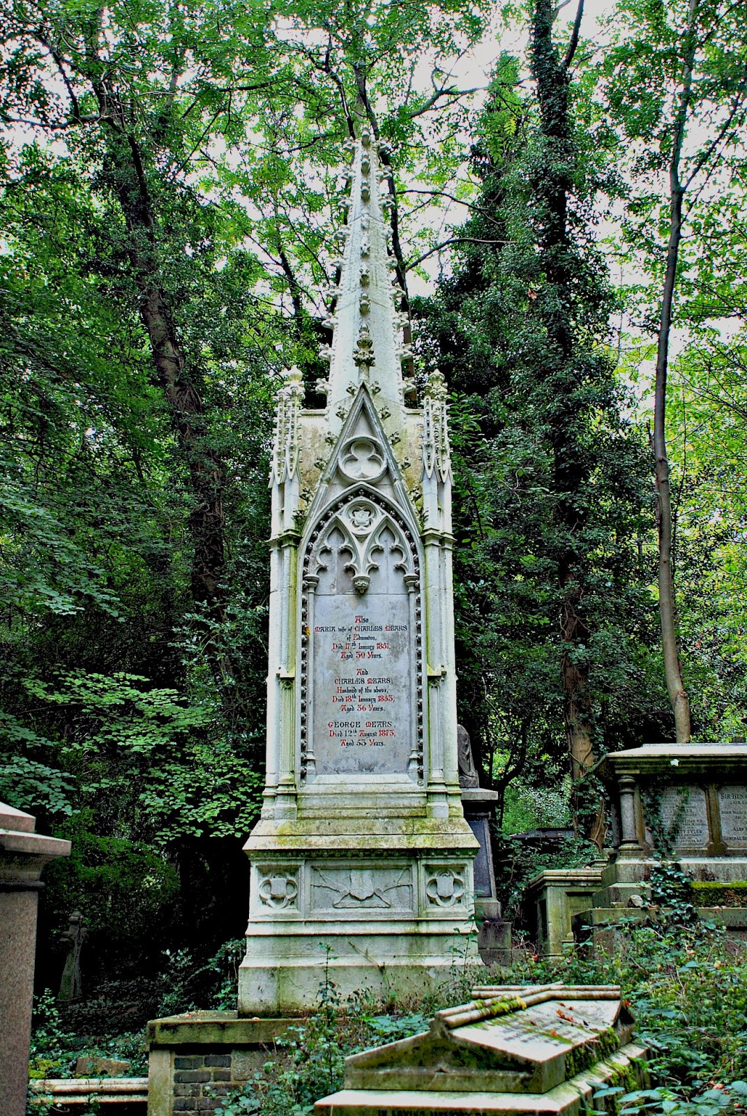 The Mears Memorial, Highgate Cemetery, London