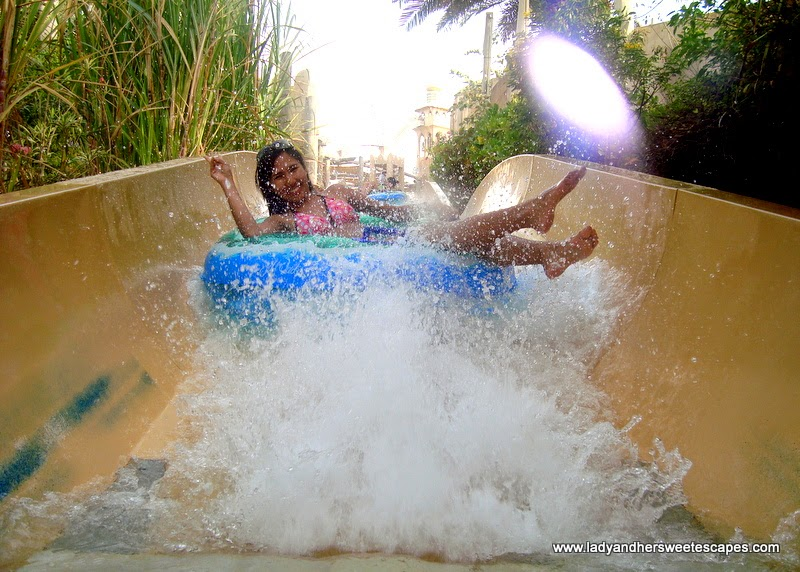 Lady in Wild Wadi water park Dubai