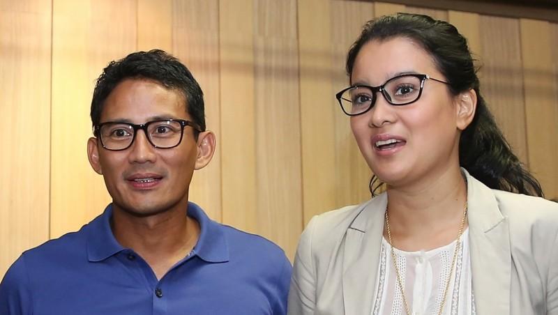 Sandiaga Uno saat bersama Marcella Zalianty