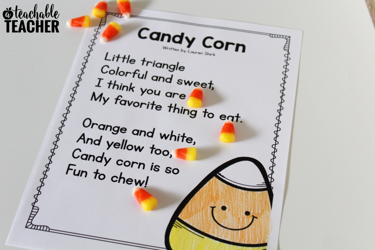 Free Candy Corn Reading Activities Your Students Will Love