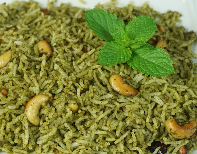 mint pudina rice recipe