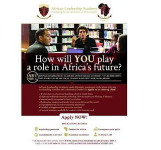 African Leadership Academy (ALA) Admission 2019 Open for Young Leaders