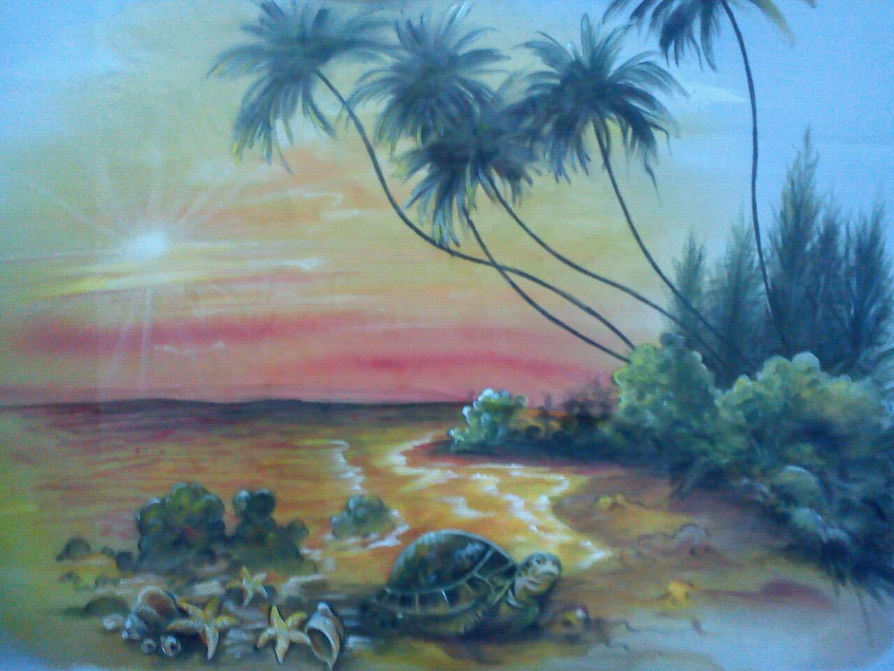 26+ Trend Lukisan Pemandangan Alam Mudah Dilukis   Guyonreceh