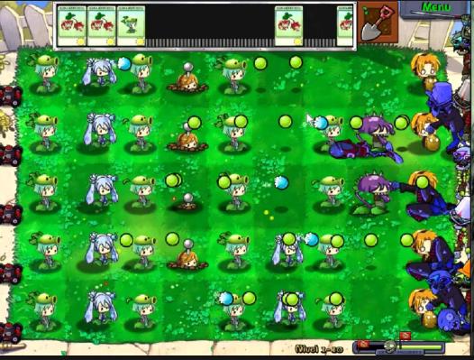 Vocaloids vs Zombies screenshot 1