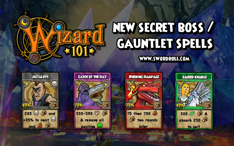 Wizard101 New Secret Boss Gauntlet Spell Drops