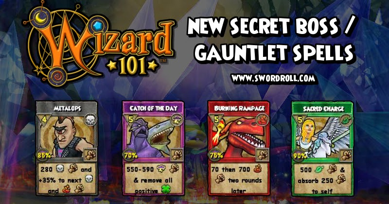New Wizard101 Secret Boss Drop Spells Swordroll S Blog