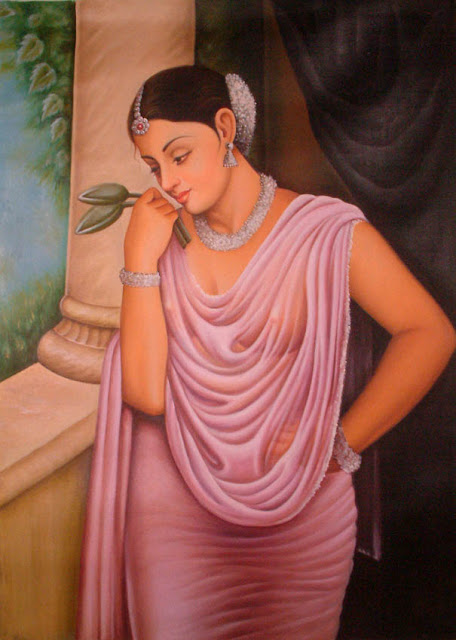 Vintage Paintings of Beautiful Woman's 9