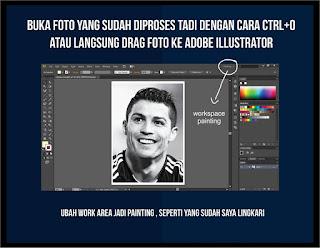 cara membuka foto di adobe illustrator