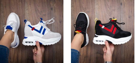 Pantofi sport femei cu platforma inalta iefitni negri, albi preturi mici