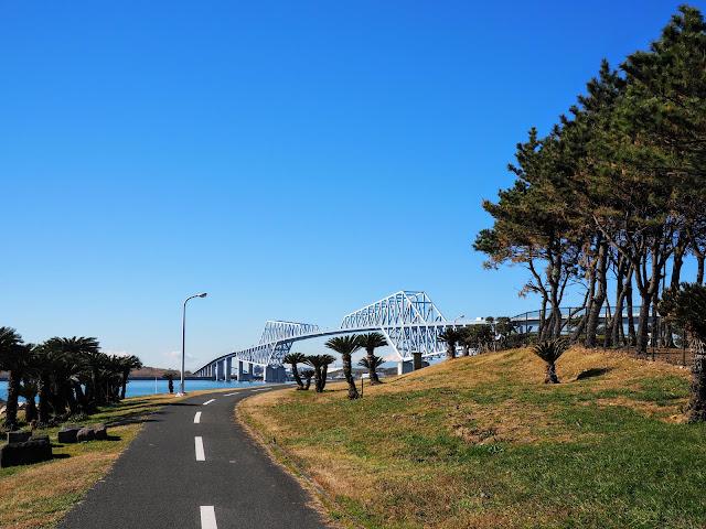 若洲海浜公園 サイクリングロード 東京ゲートブリッジ