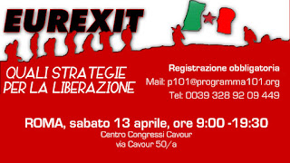 EUREXIT - Roma 13 aprile: incontro internazionale