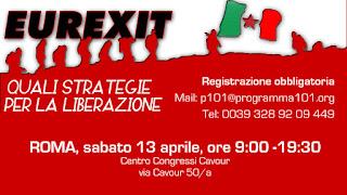 EUREXIT - Roma 13 aprile: incontro internazionale