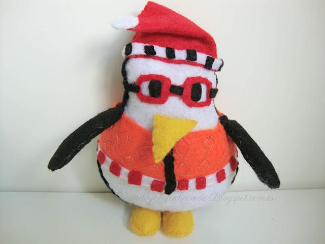 Abracín,el pingüino de la serie Friends,en Fieltro