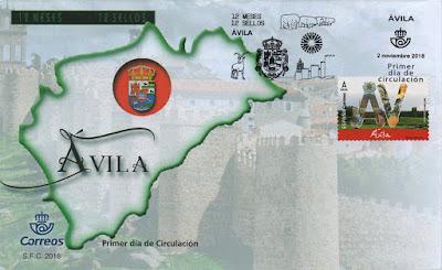 Sobre PDC del sello dedicado a Ávila