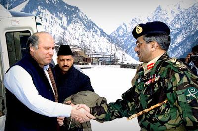 Image Attribute: FEB 1999 - Nawaz Sharif and General Pervez Musharraf in Kail, POK