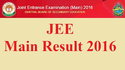 JEE- Main -2016 -Result