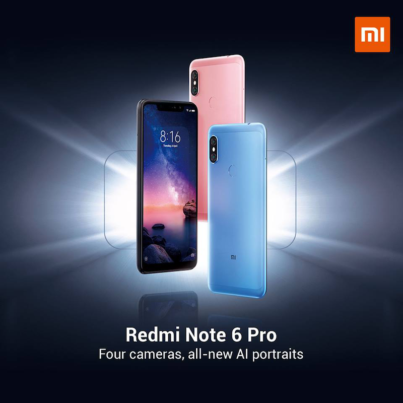 Redmi Note 6 Pro to be available on Lazada