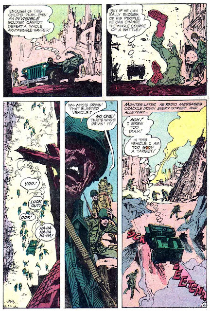 Weird War Tales v1 #25 dc bronze age comic book page art by Alex Nino
