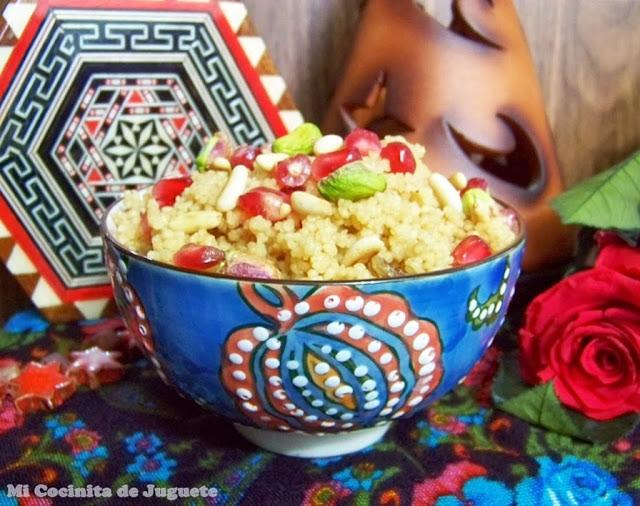 Cous Cous Dulce con Granada, Pasas y Frutos Secos