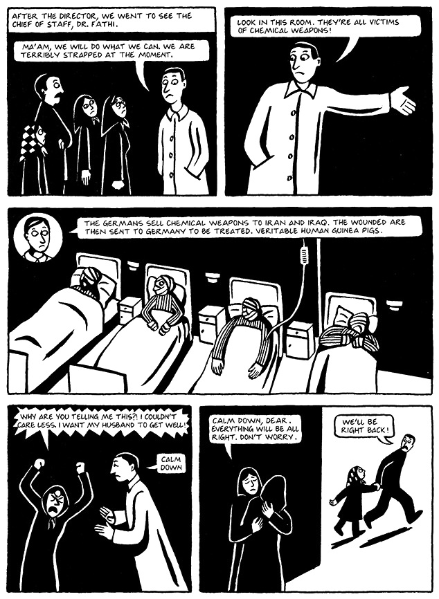 Read Chapter 16 - The Passport, page 120, from Marjane Satrapi's Persepolis 1 - The Story of a Childhood