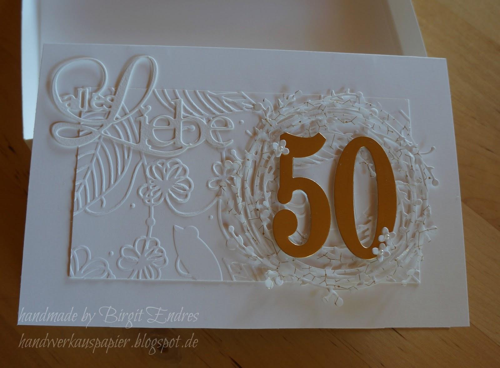 Handwerk Aus Papier Zur Goldenen Hochzeit
