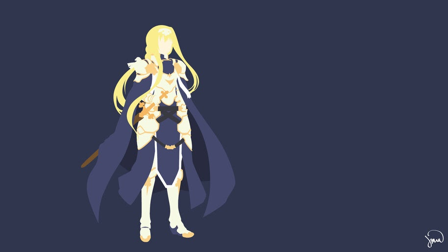 Alice Sword Art Online Alicization Minimalist 4k Wallpaper