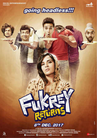 Fukrey Returns 2017 DTHRip 400Mb Full Hindi Movie Download 480p Watch Online Free bolly4u