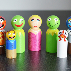 Muppets Peg Dolls
